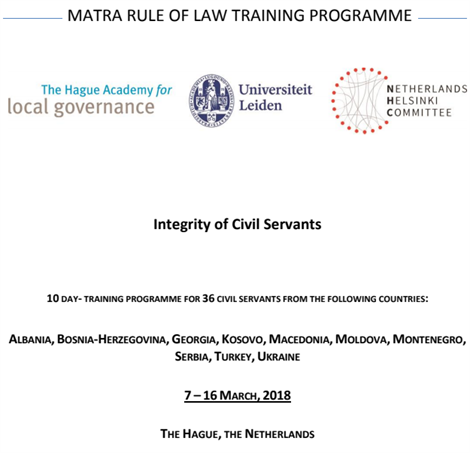 The  MATRA training courses